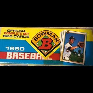 Bowman complete set 90 baseball 528 cards